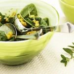 Salade d'épinards et mangues