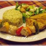 Brochettes de poulet à la grecque 2