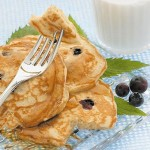 Golden Blueberry Pancakes