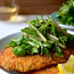 Chicken Milanese with Green Apple Salad