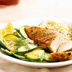 Herbed Chicken, Orzo, and Zucchini