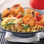 Orange Ginger Shrimp with Bok Choy and Noodles