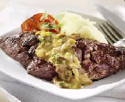 Flank Steak with Leek and Bacon