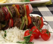 Sweet and Tangy Sausage Pepper Kabobs