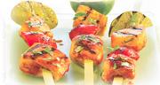 Chicken & Fruit Kebabs