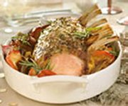 Rack of Pork with Maple-caramelized Apples