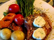 Côte de veau grillée, beurre au Gorgonzola