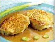 Cordon Bleu Chops with Demi-Glace Sauce