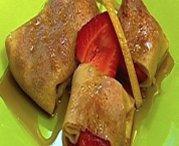 Crêpes aux fraises et sirop d'érable