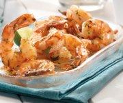 Crevettes grillées avec chili épicé