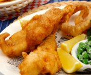 Beer Battered Fish and Onion Rings