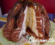 Gâteau à la crème glacée et Roulés Suisses
