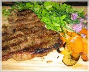 T-Bone grillé BBQ et marinade à frotter