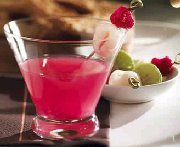 Raspberry and Litchi Martini