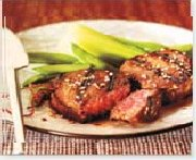 Grilled Teriyaki Red Grill Angus Sirloin Medallions