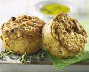 Butternut Thyme Muffins with Prosciutto