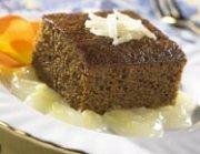Gingerbread Cake with Lemon Sauce