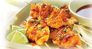 Honey Garlic Salmon Satays