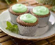 Chipits grasshopper brownie cupcakes