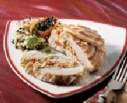 Italian-style stuffed turkey breast