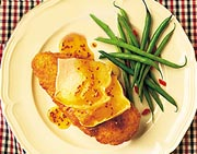 Canadian Brie-Topped Dijon Chicken Breasts