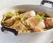 Salmon and Cabbage Stew