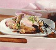 Roast Pork with Port-caramelized Mushrooms
