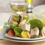 Warm Turkey, Artichoke Heart and Almond Salad