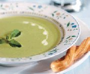 Minty Green Pea and Buttermilk Soup