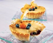 Blueberry-fudge tarts