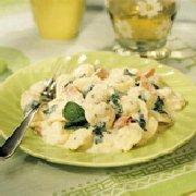 Tortellini Alfredo with Spinach & Ham