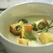 Cold Pear and Fiddlehead Velouté
